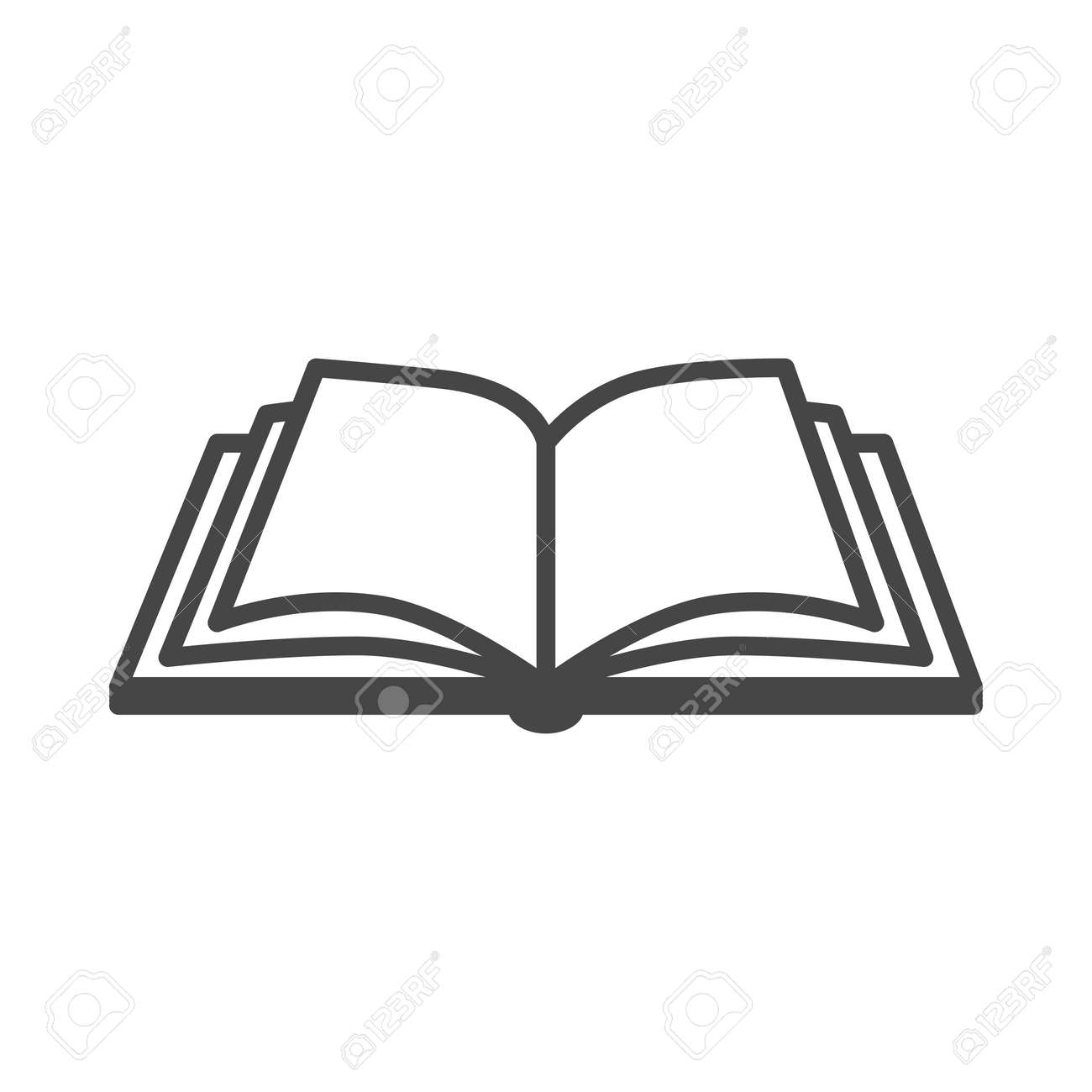 open book vector icon on a white background royalty free cliparts rh 123rf com book icon vector download book icon vector download