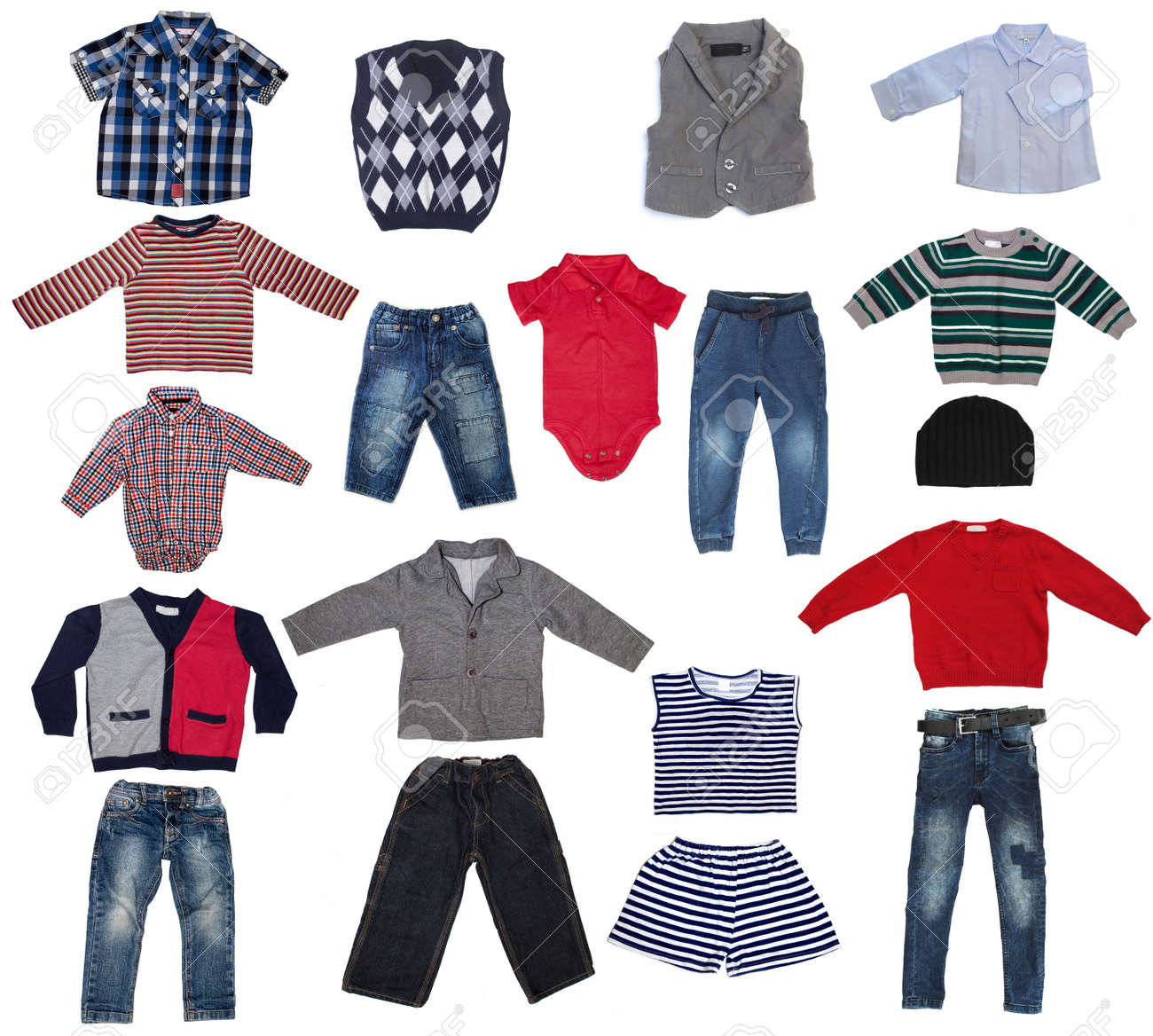29f172f54 Fashion Modern Male Baby Clothes.Collage Set Of Boy Kid Wear Stock ...