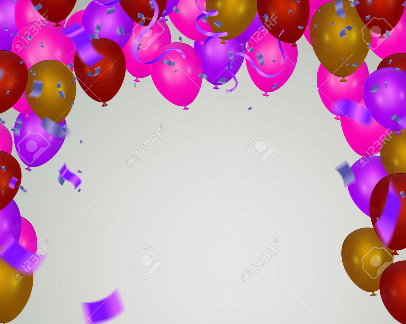 Pink light balloons and colorful balloons on the background. - 134584822