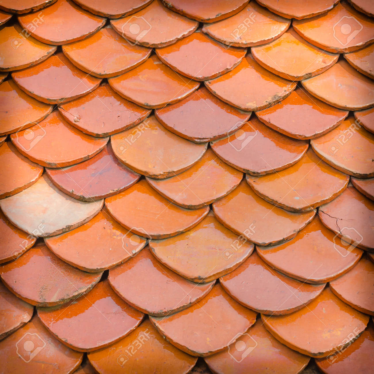 Roof Tiles Background, Close Up Of Red Roof Texture Stock Photo   28842961