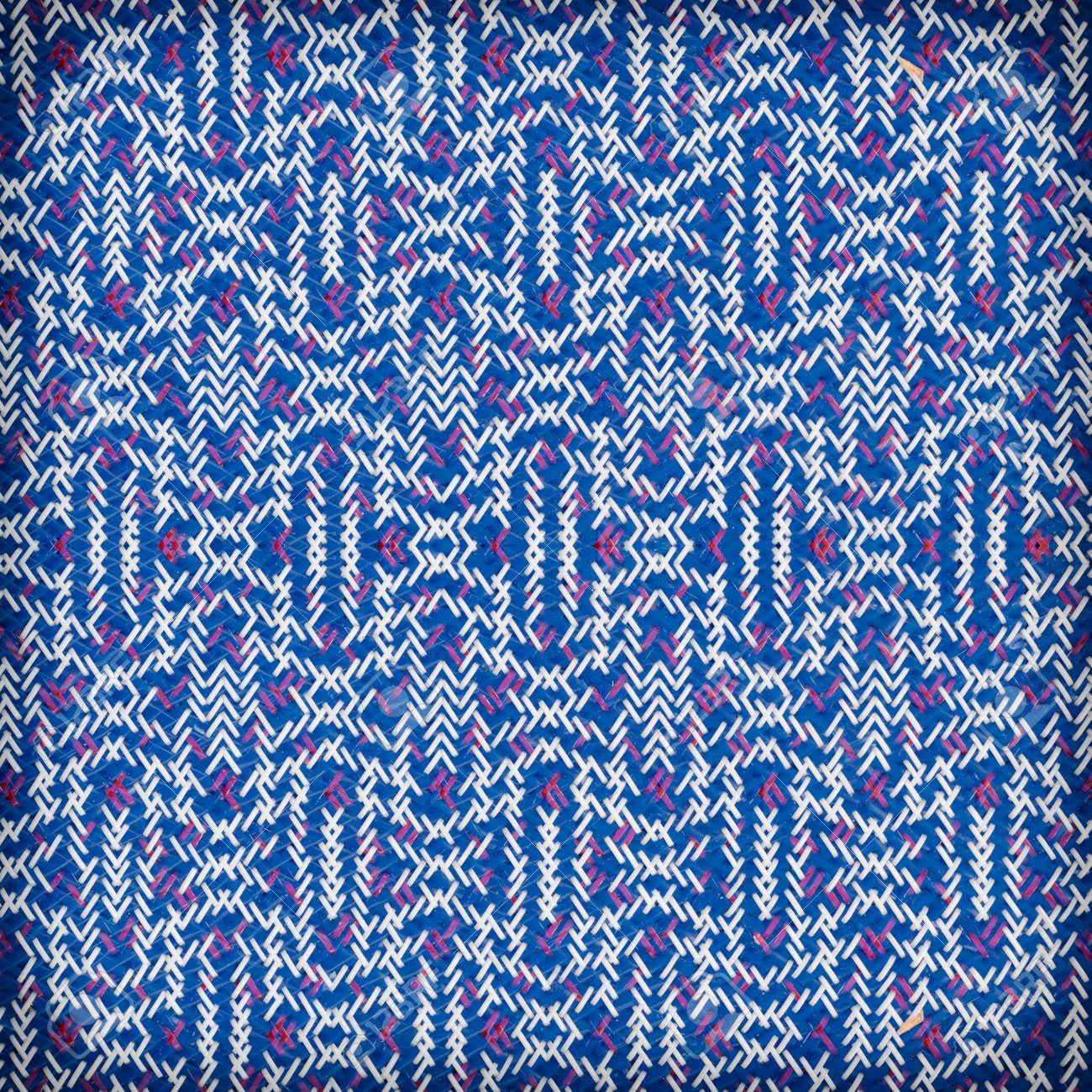 Colore De Tapis De Plastique Tisse Rouge Et Bleu