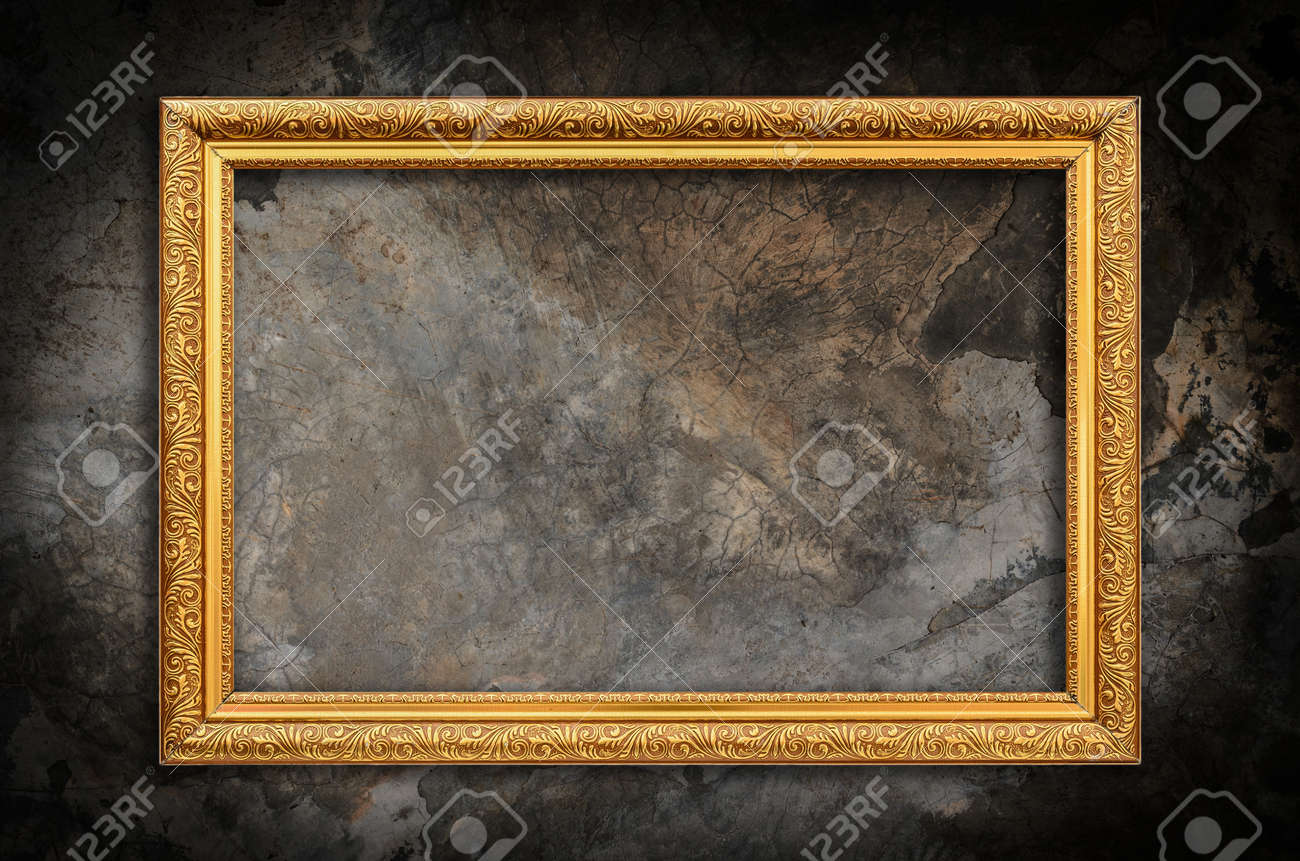 Picture frame on the wall grunge wall background - 54296832