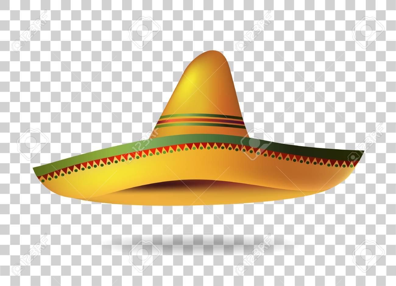 Mexican Sombrero Hat transparent background. Mexico. Vector illustration  Stock Vector - 69983261 e03f11b0cc9