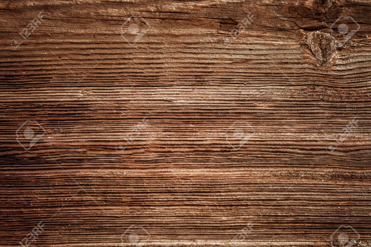 Brown unpainted natural wood with grains for background and texture - 137524327