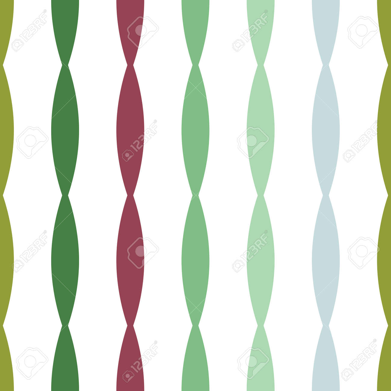 Seamless colorful geometric vertical convex stripes lines abstract