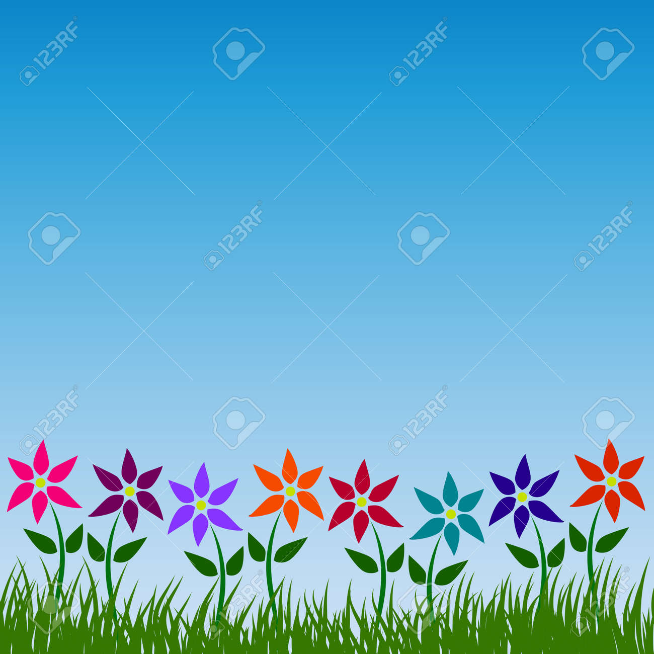 Flower garden vector pattern floral nature background design..