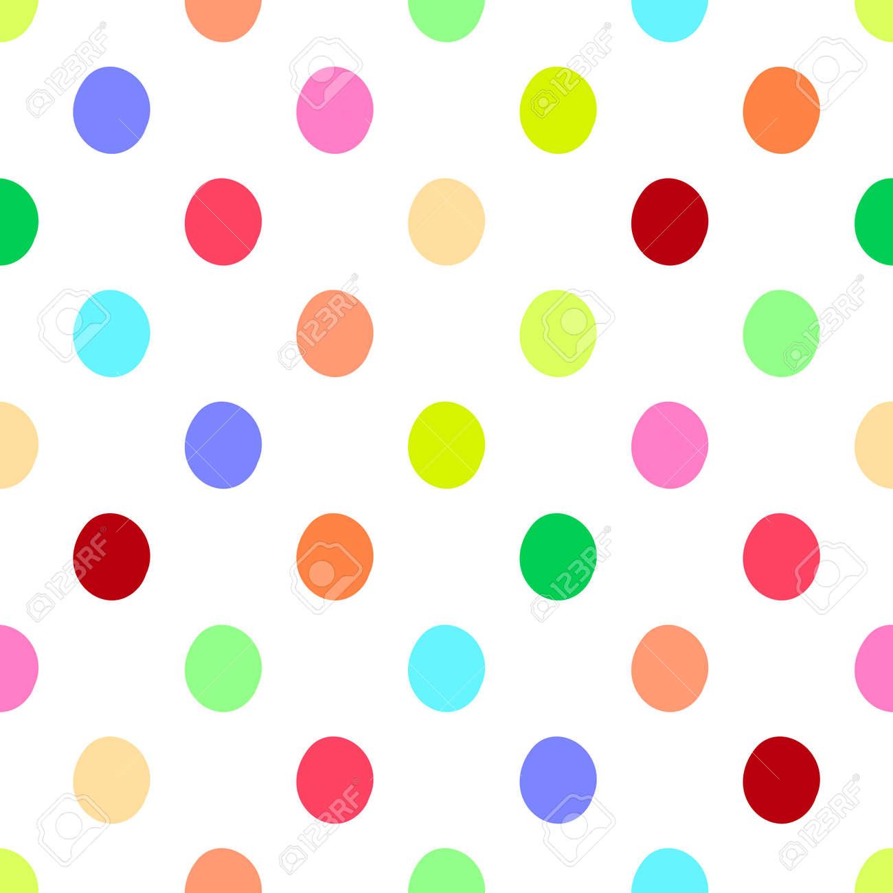 seamless polka dots pattern vector background vintage retro abstract rh 123rf com black polka dot background clipart