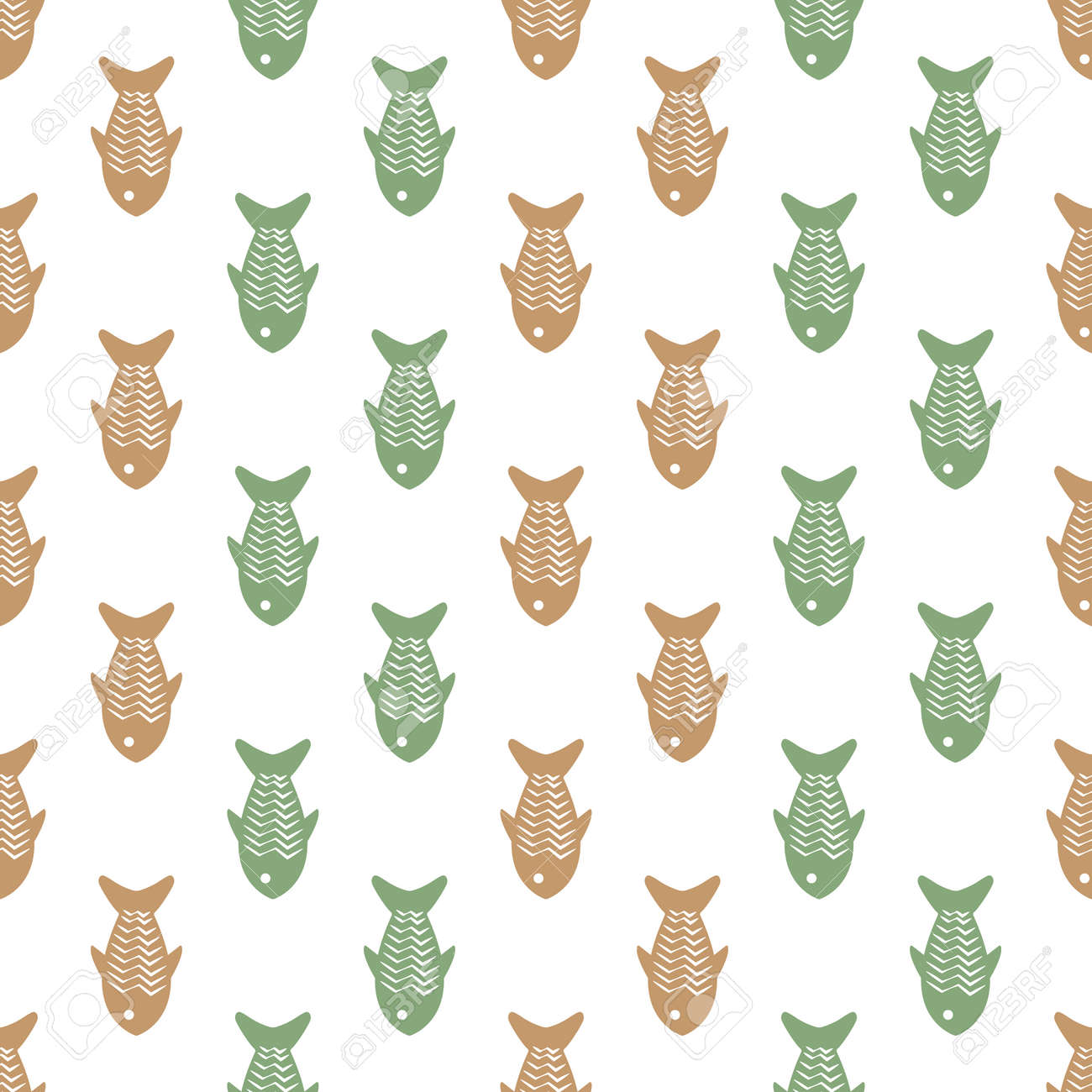 Seamless Animal Pattern Vector Background Colorful Art With Cute