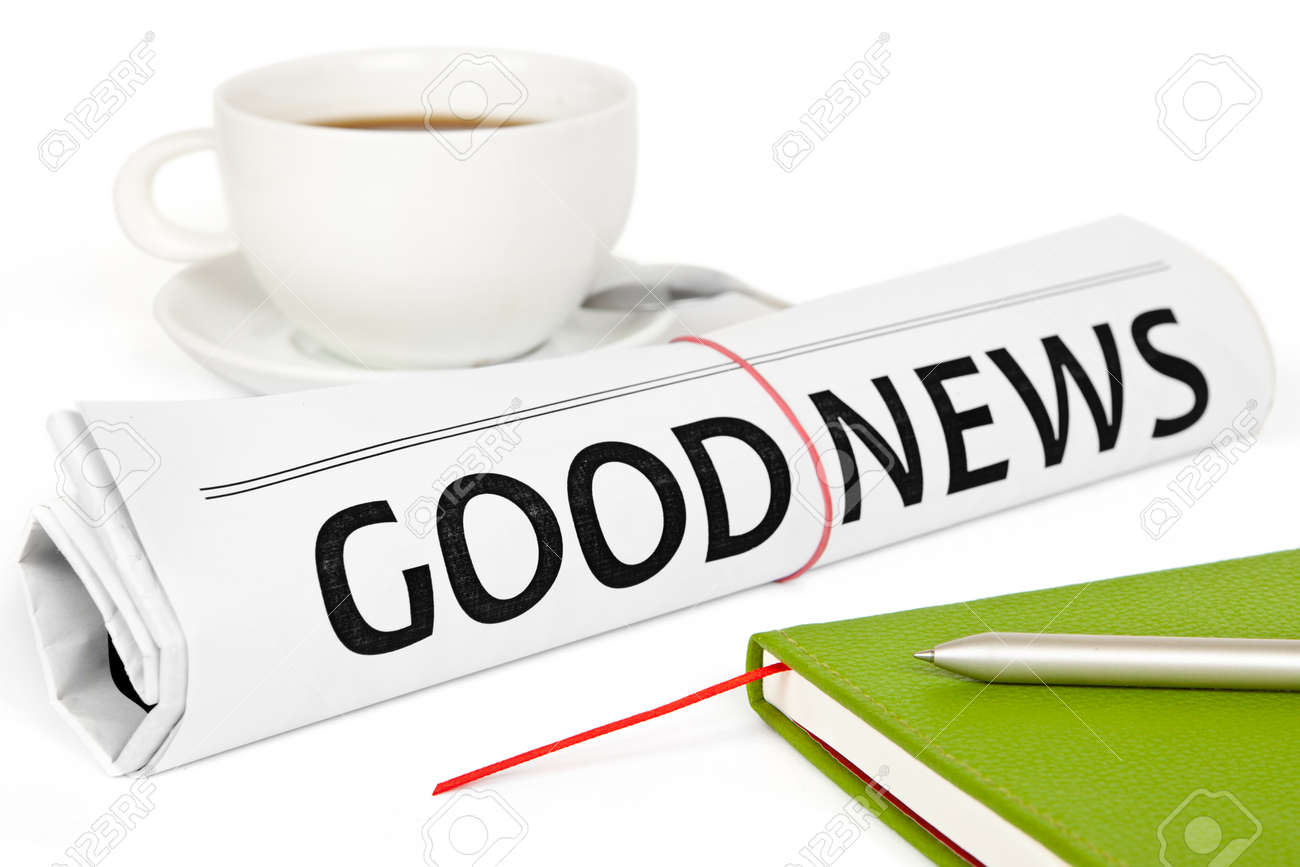 Good news message on work place Stock Photo - 15537111