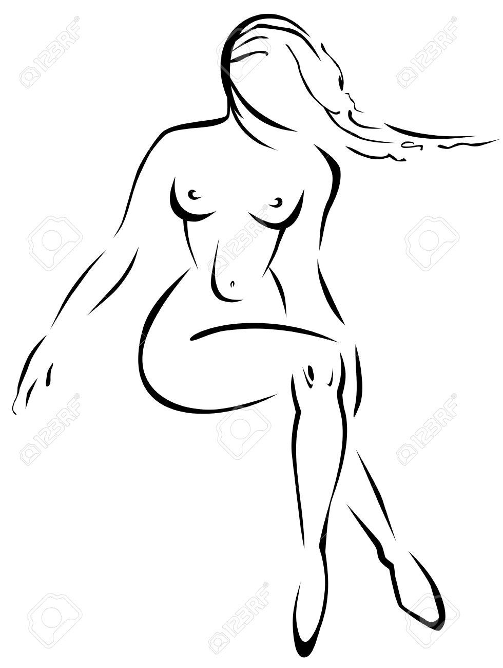 Раскраски голые девушки