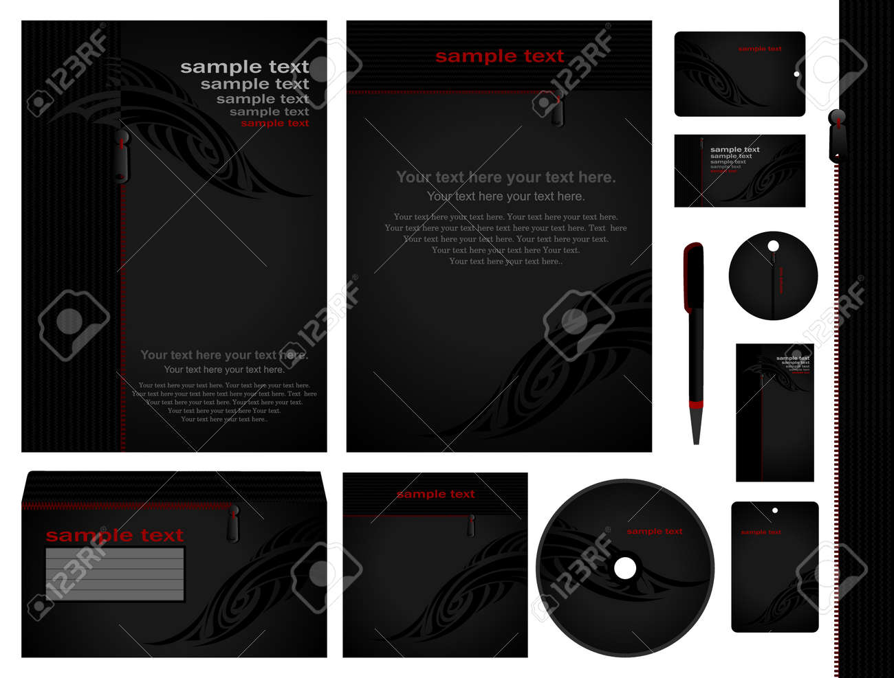 Corporate Style 11 Modeles Vide Carte Stylo Cd Notez Papier