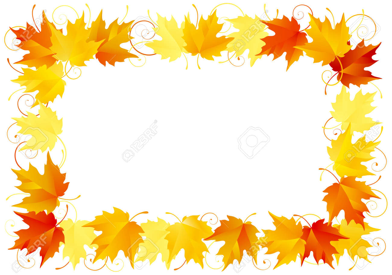 Autumn leaves border Stock Vector - 10330913