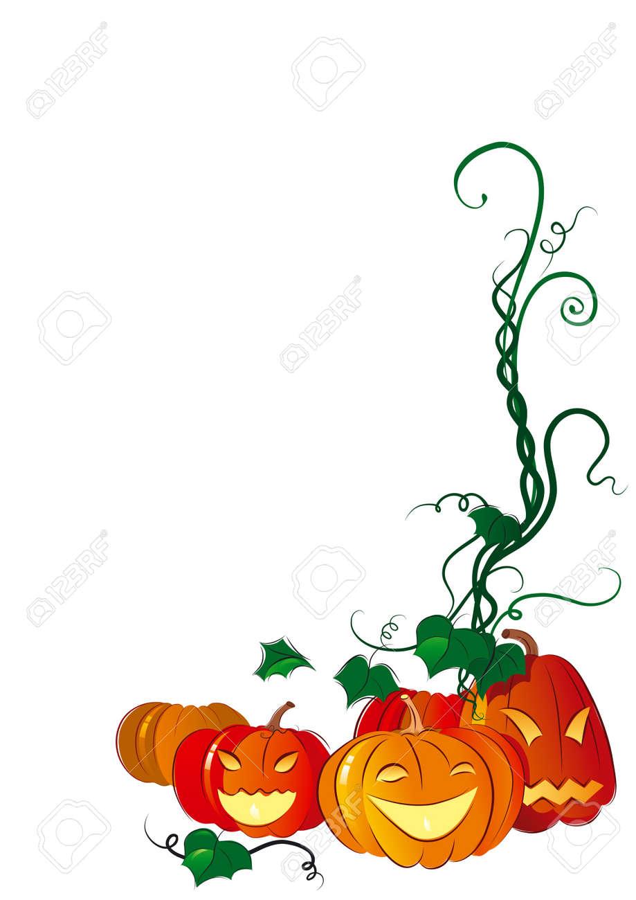 Happy Halloween. Vector illustration of  fun pumpkins lantern on a background. Stock Vector - 10465124