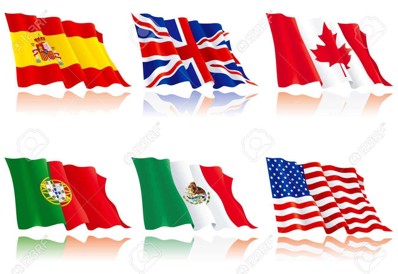 Flags set of world nations 3 Stock Vector - 11082943