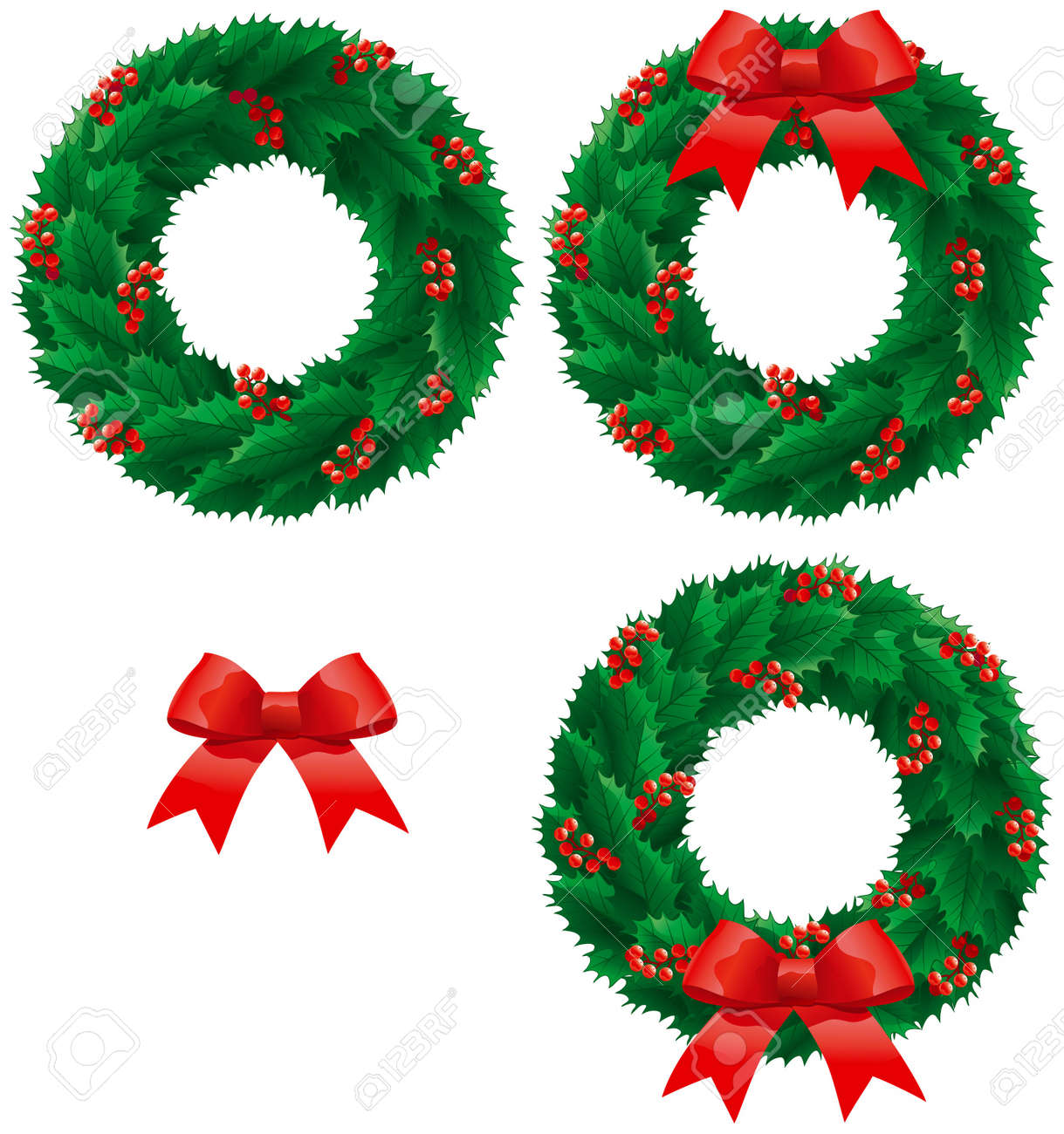 3,677 Christmas Wreath Vector Stock Vector Illustration And ...