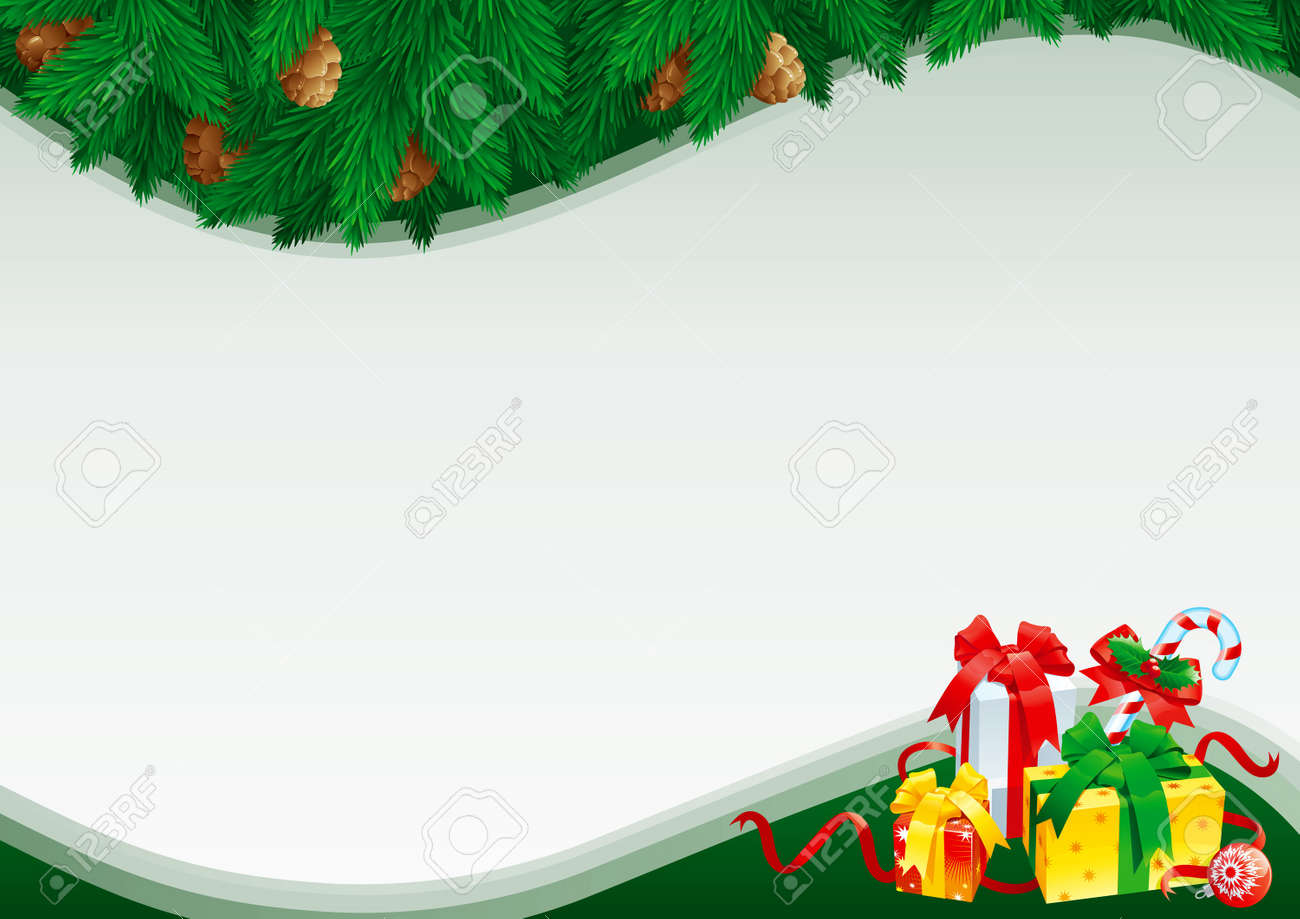 Christmas Card With Empty Blank For Text. Christmas Card With ...