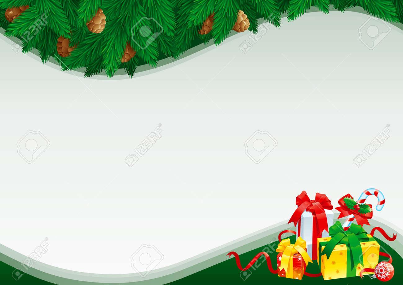 Weihnachtskarte Mit Leeren Rohling Für Text. Weihnachtskarte Mit ...