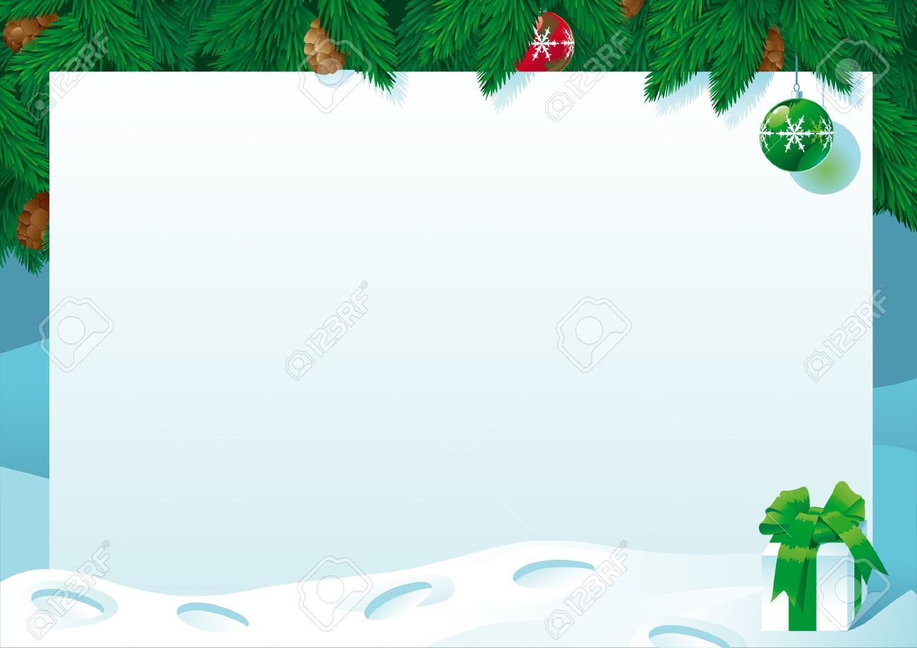 Christmas Card. Vector Illustration Of Empty Blank And Gift Box ...