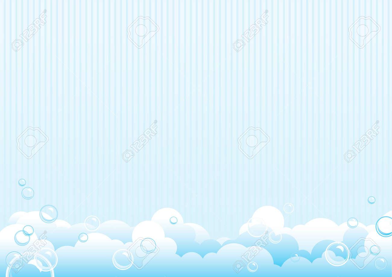 石鹸の泡。石鹸の泡の青色の背景色。ベクトル イラスト ロイヤリティ