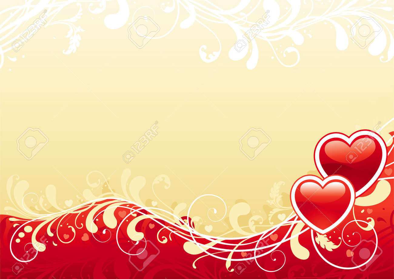 Abstract Valentine Background Red Ornate Abstract Background