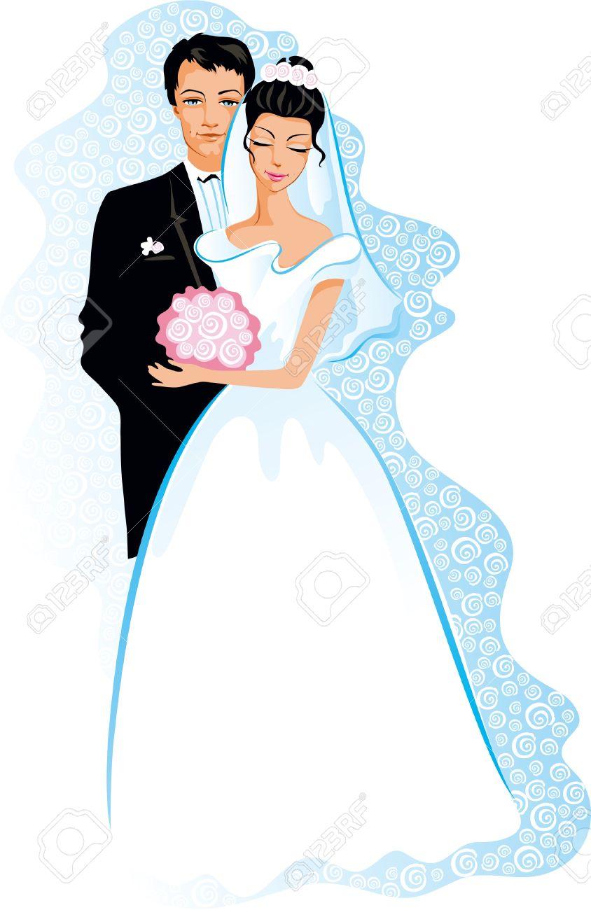 Как нарисовать жениха и невесту своими руками