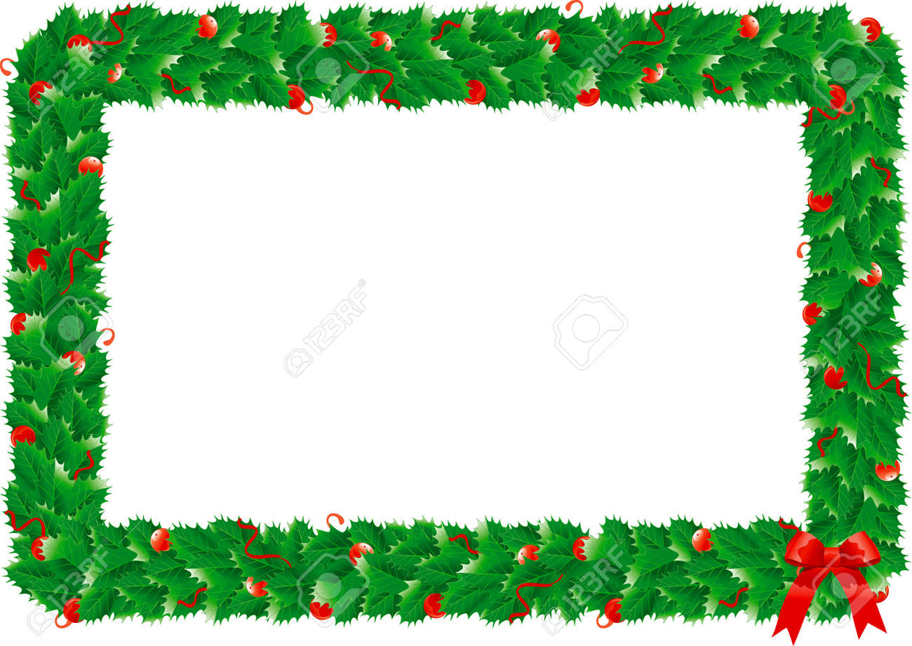 holly christmas holly s frame border with green holly s leaves for christmas decoration