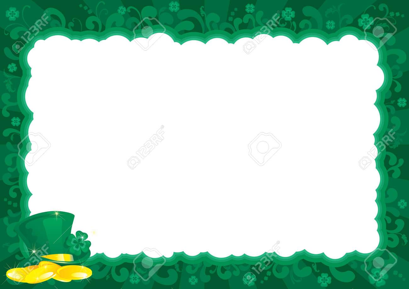 Frontera Para El Día De St Patrick Marco Adornado Con Duende S S ...