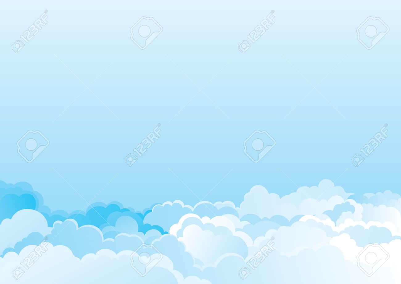 cloudy sky vector color horizontal background of cloudy sky royalty rh 123rf com sky vectoring skyvector charts