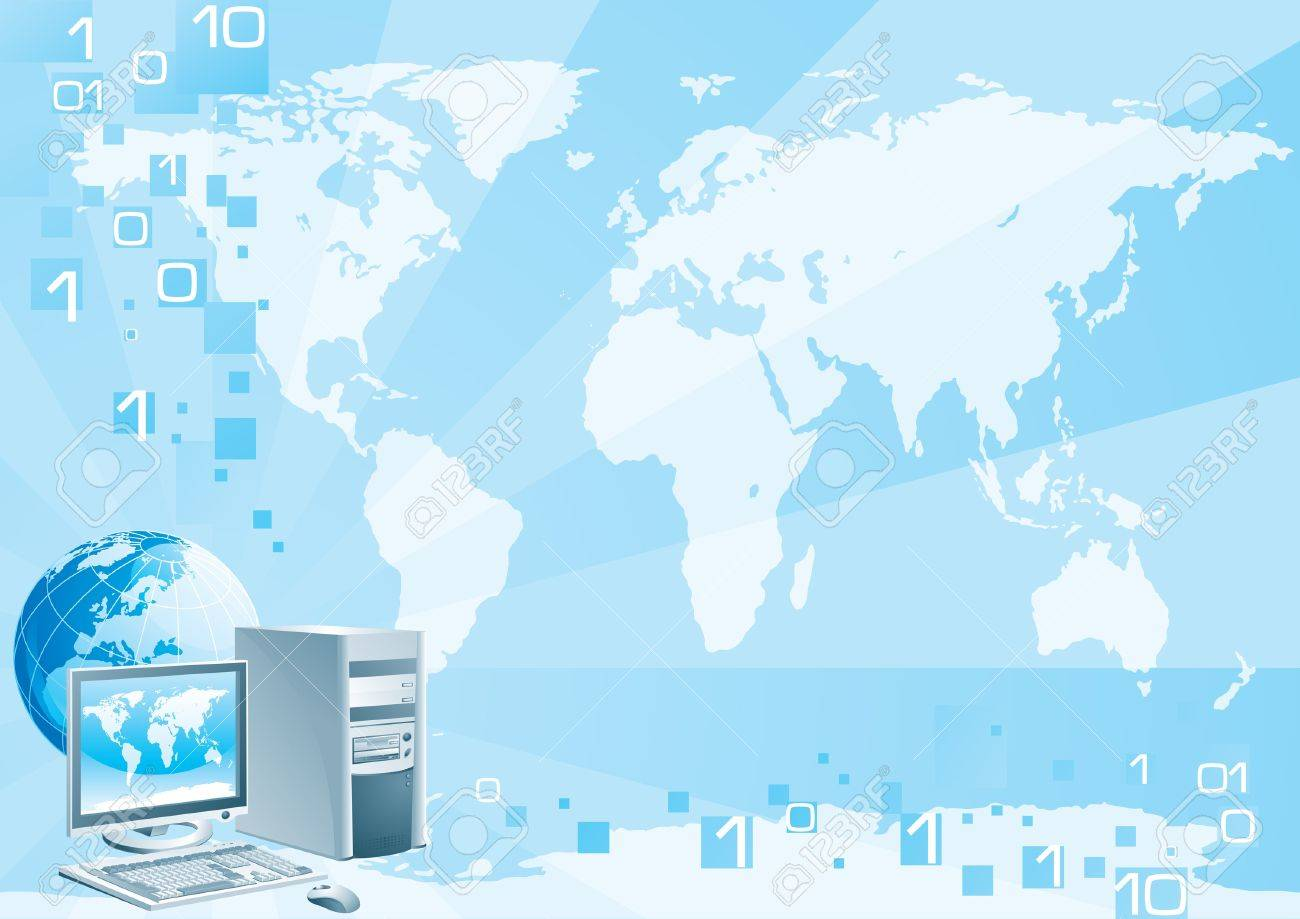 Digital world - Europe Stock Vector - 17994947