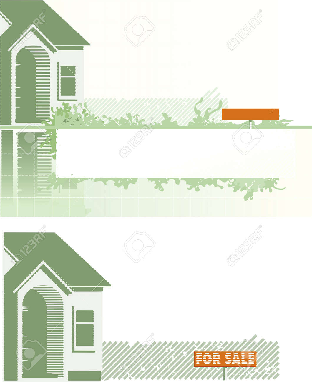 backgrounds of the houses Stock Vector - 19877784
