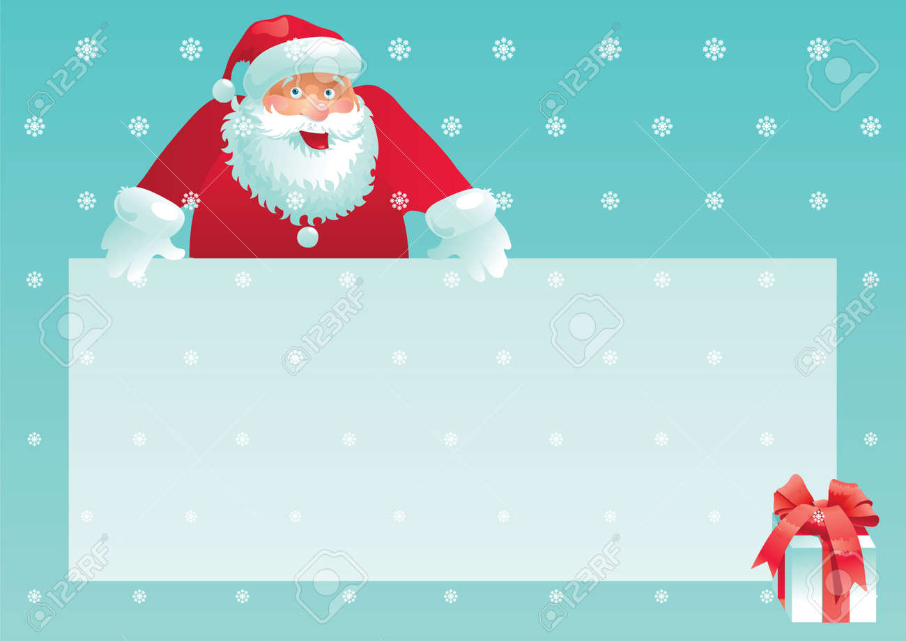 Santa claus and gift box with christmas letter vector illustration santa claus and gift box with christmas letter vector illustration of santa claus and gift spiritdancerdesigns Choice Image