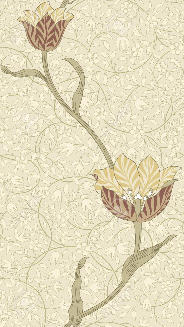 61539277 modern floral seamless pattern for your design print on paper or textile desktop wallpaper vector il
