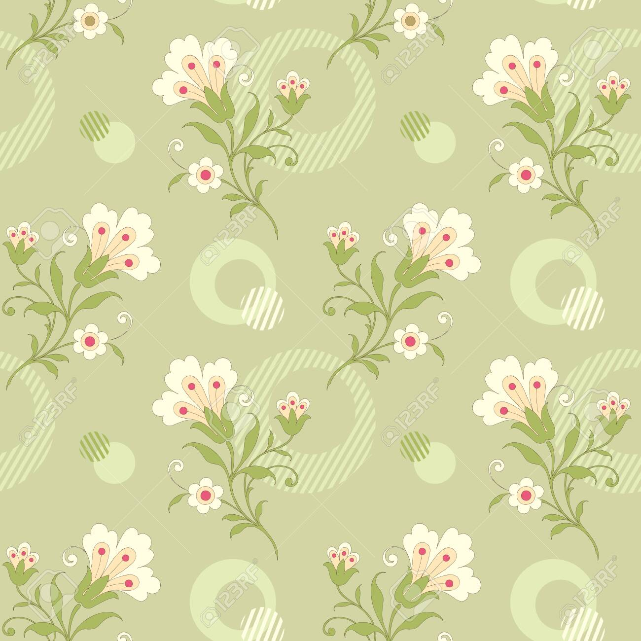 Modern Floral Seamless Pattern For Your Design Print On Paper
