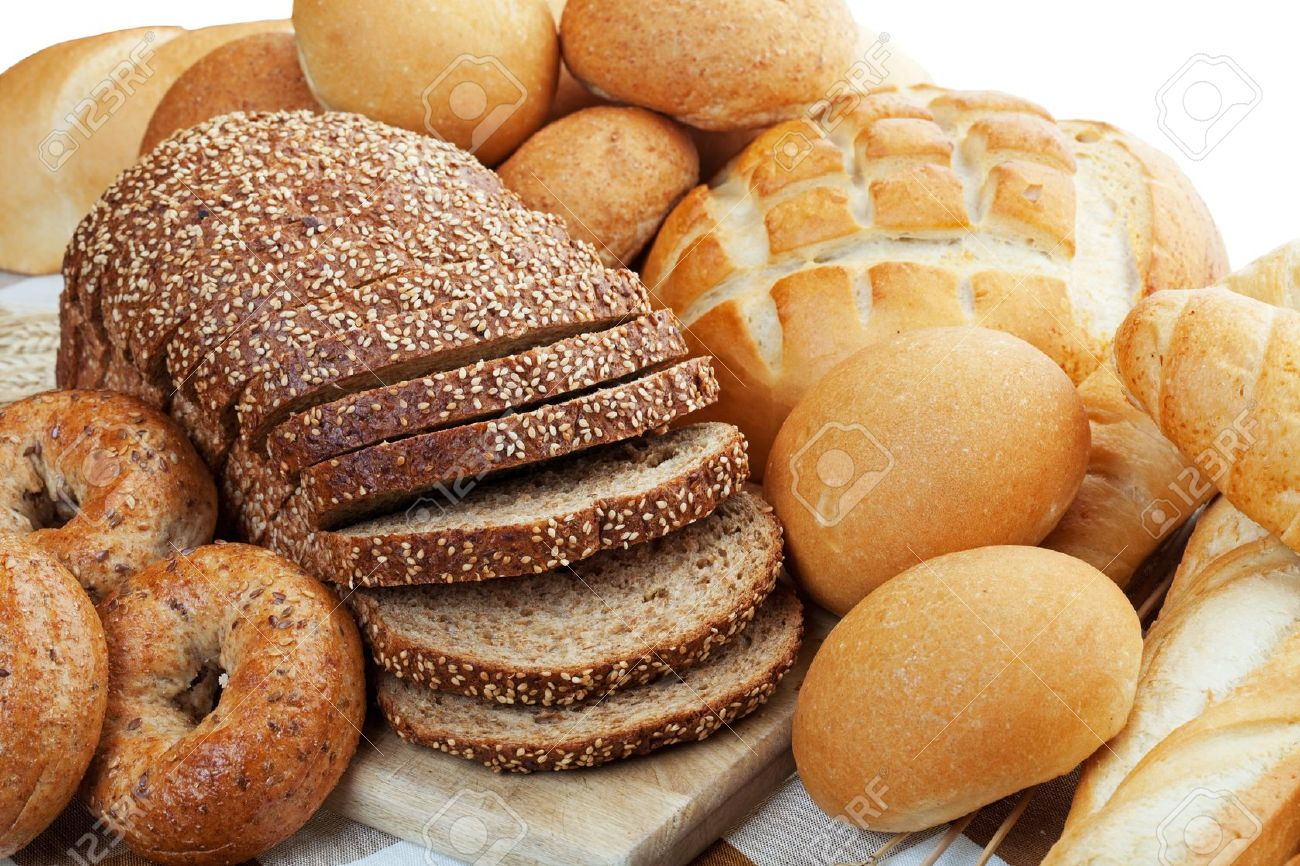 An assortment of freshly baked breads.  Shallow depth of field. Stock Photo - 7163022