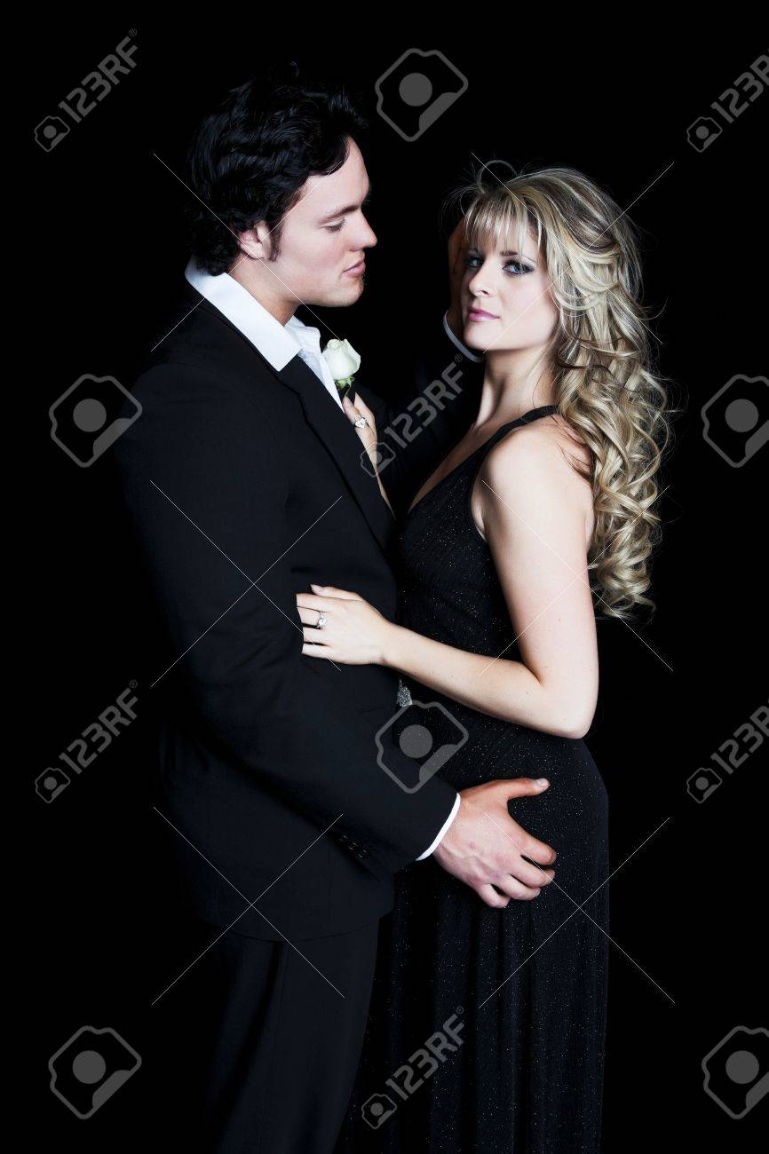 aa568ed254f6 A romantic, young couple dressed in formal evening wear. Stock Photo -  11582610