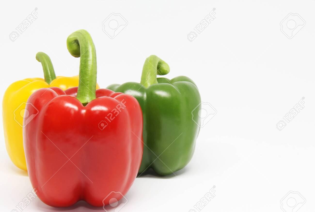 bell pepper on white background - 153457194