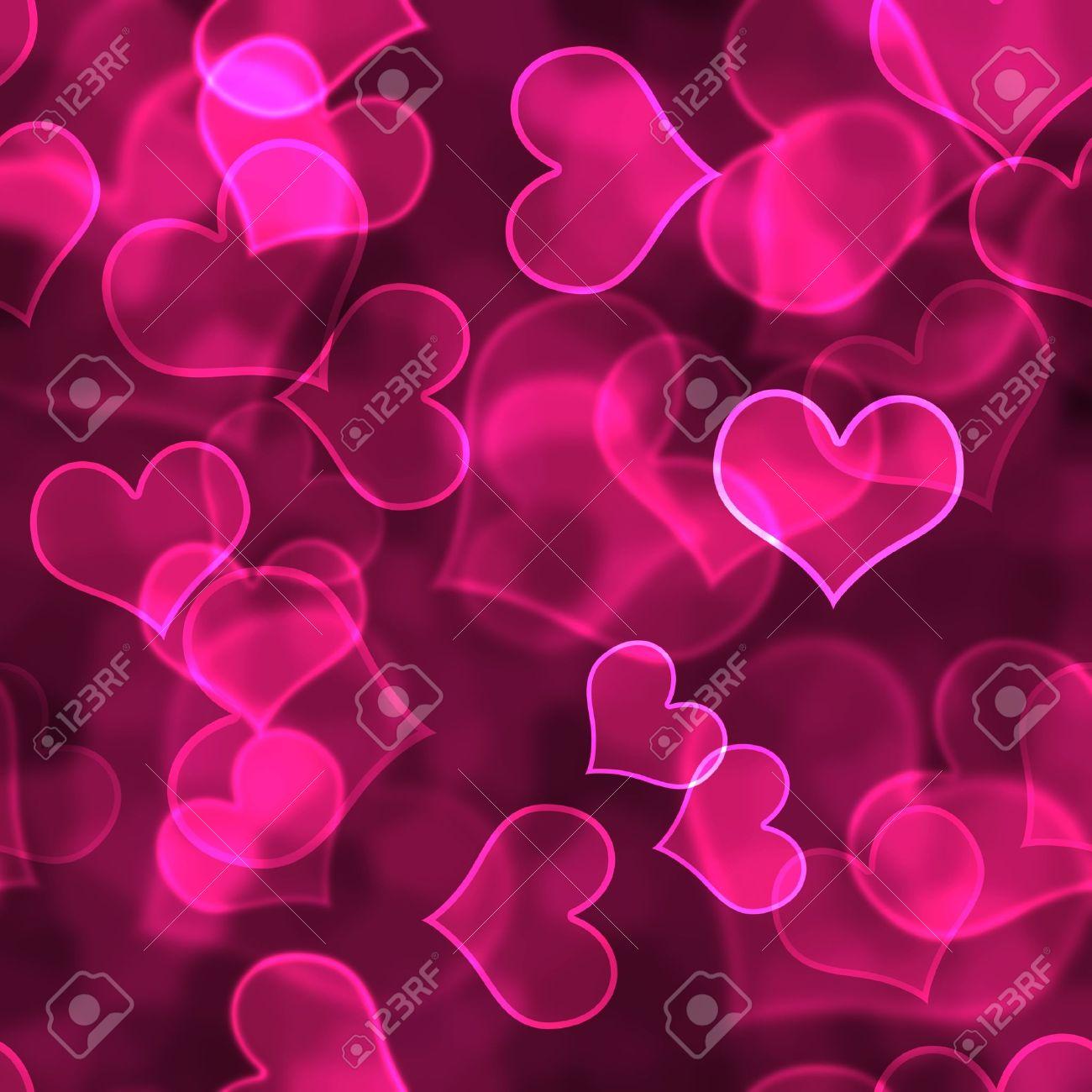Hot Pink Heart Background Wallpaper