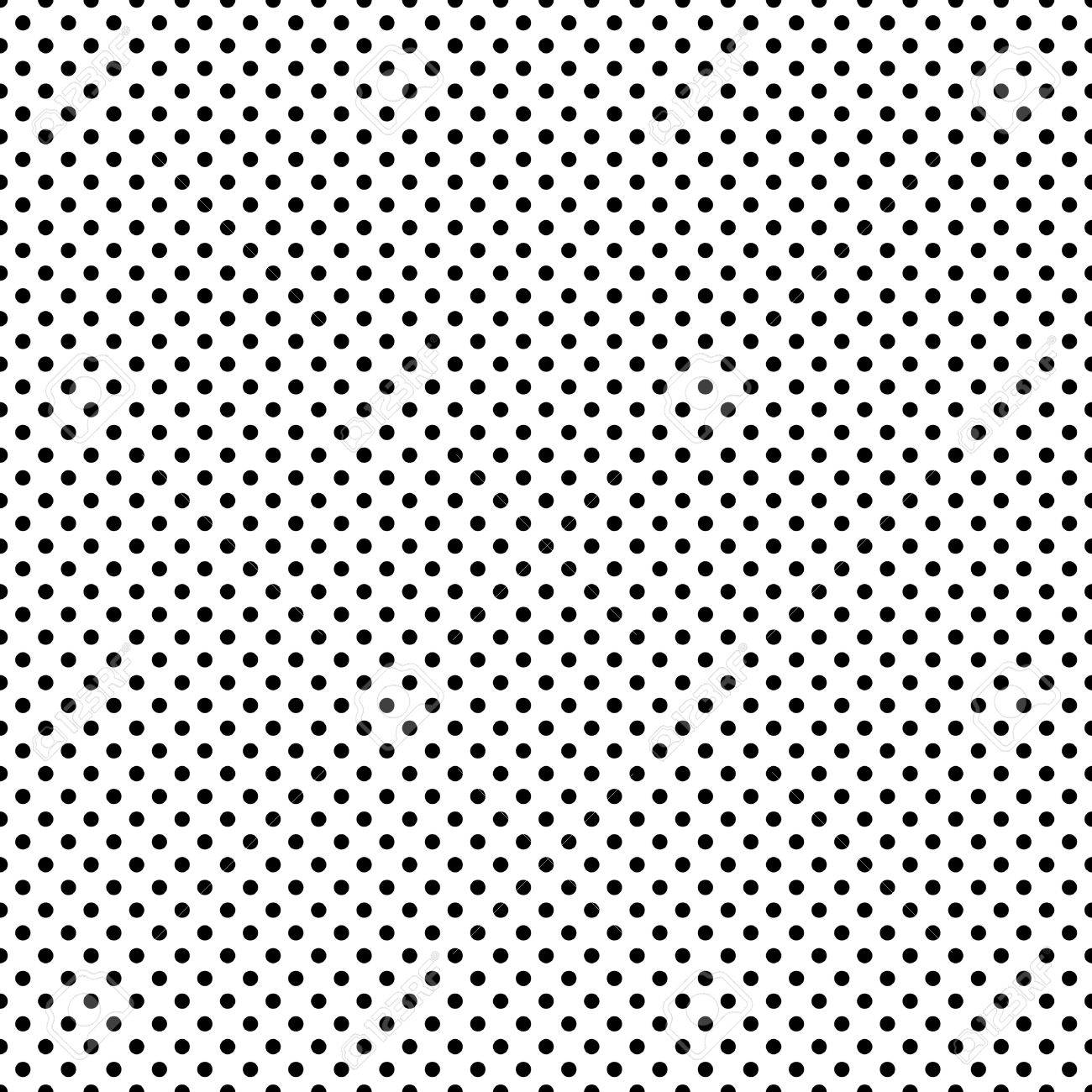 Seamless Black White Dots Stock Photo Picture And Royalty Free