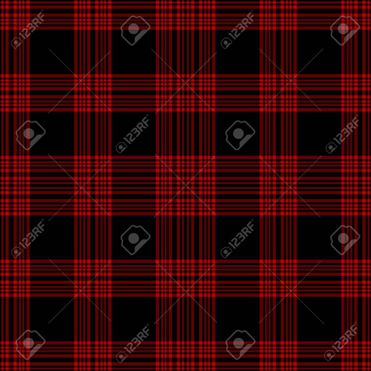 Seamless Black & Red Plaid Stock Photo - 15685921