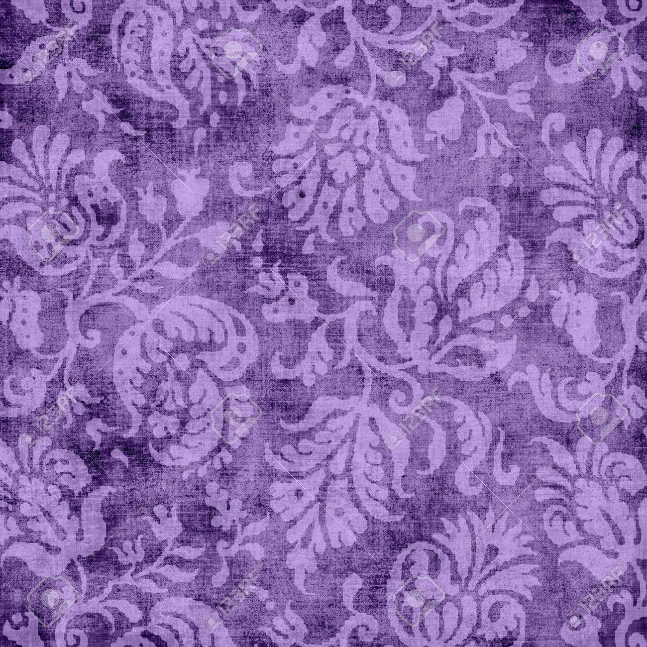 Vintage Purple Floral Tapestry Stock Photo - 16958040