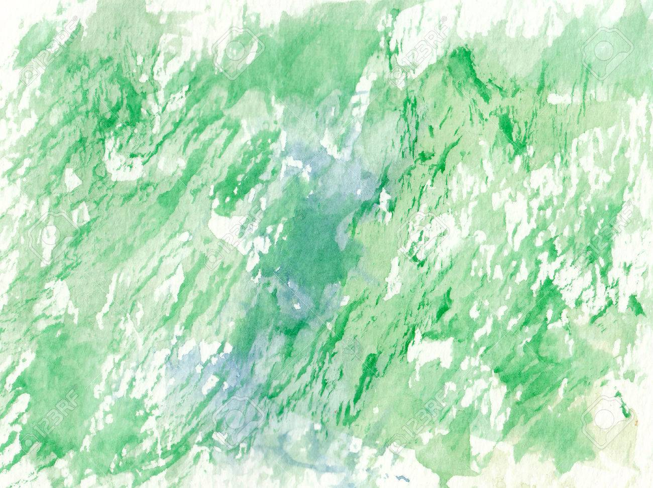 Green Brush Stroke Abstract Textures Background Stock Photo