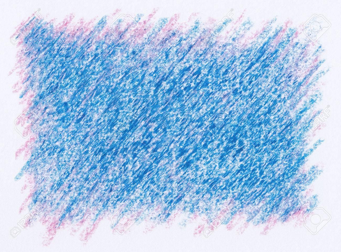 紫ピンクの抽象的な背景の上に青いクレヨン絵 の写真素材 画像素材 Image