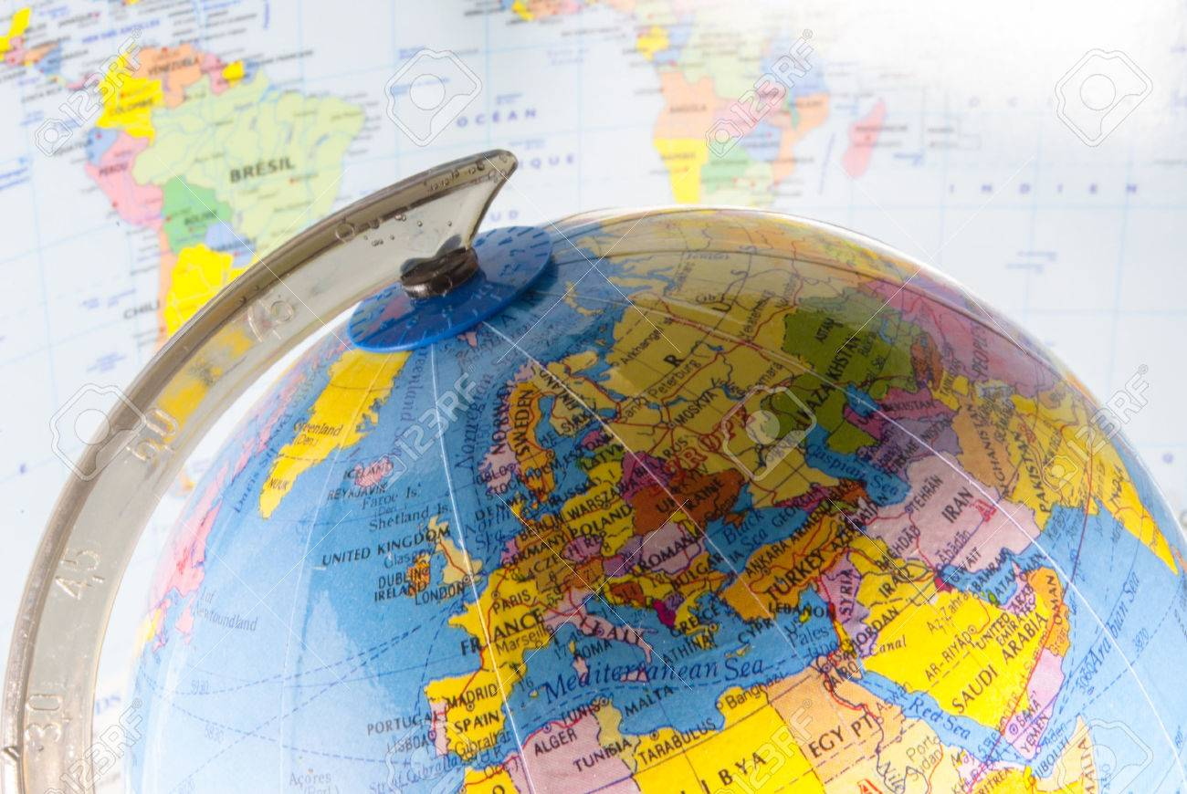Study Geography Oceans Countries And Continents With The World - World map with countries and oceans