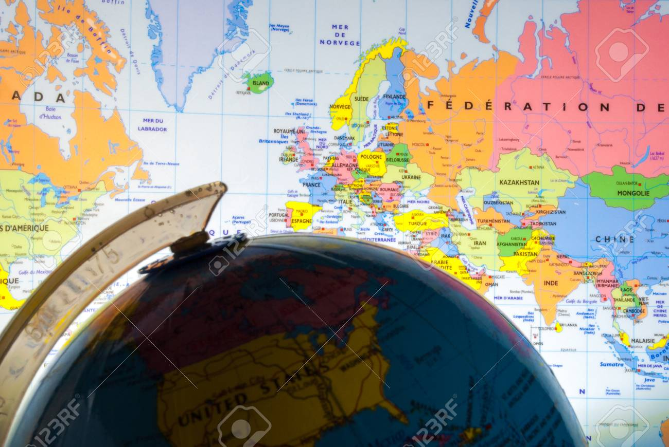 Study World Map.Study Geography Oceans Countries And Continents With The World