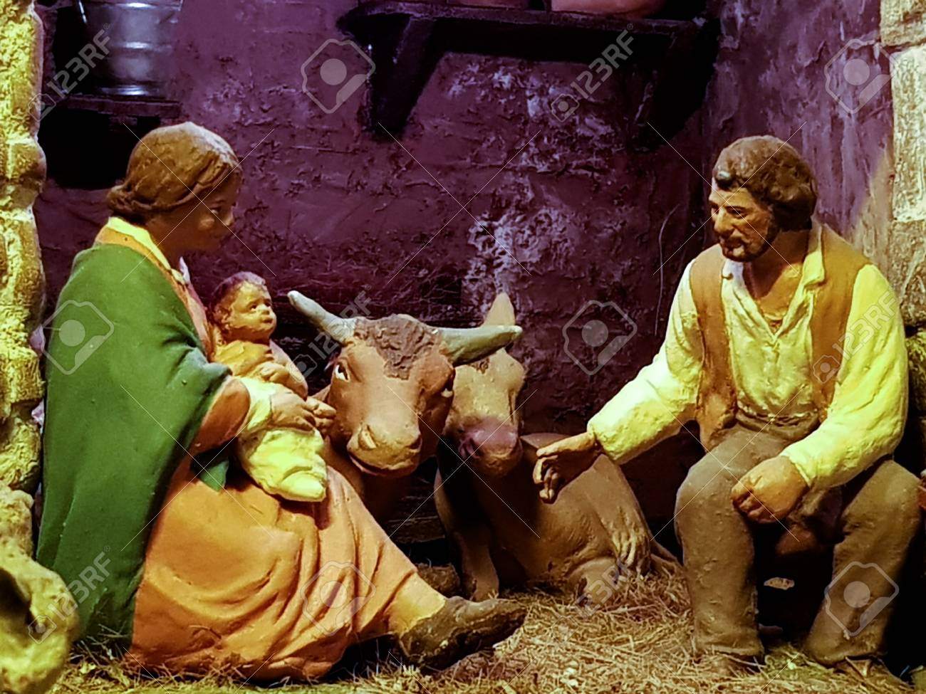 the crib is an artistic reconstruction of places and characters during the advent of Jesus - 92981711