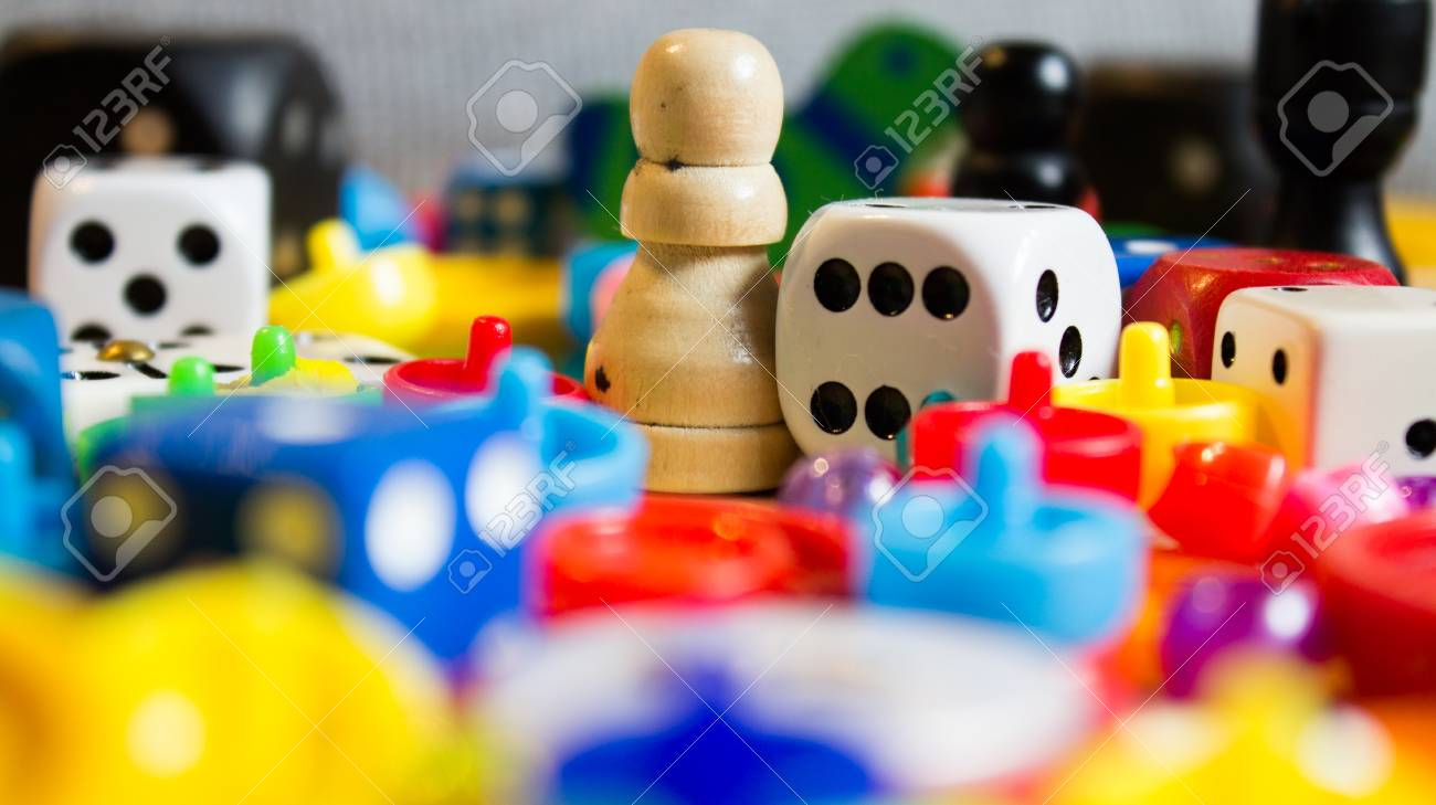 mix of colorful little games for young and old - 92821247