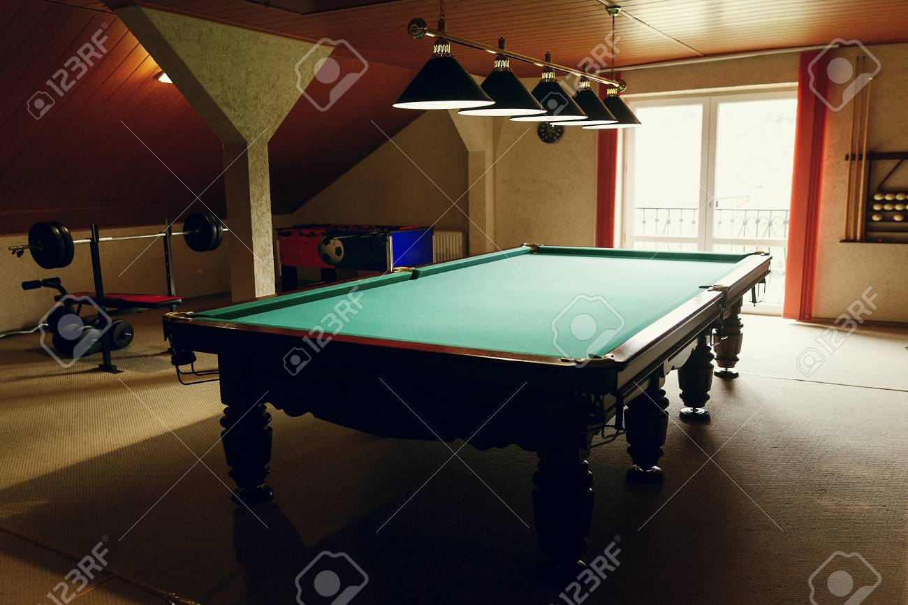 Luxury Pool Table At Recreation Room In Rehabilitation Centre - Luxury billiards table