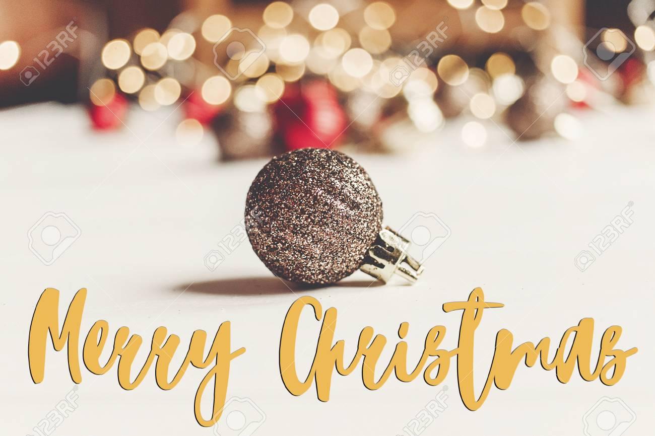 Merry christmas text seasonal greetings card sign glitter merry christmas text seasonal greetings card sign glitter christmas ornament with illumination lights on m4hsunfo