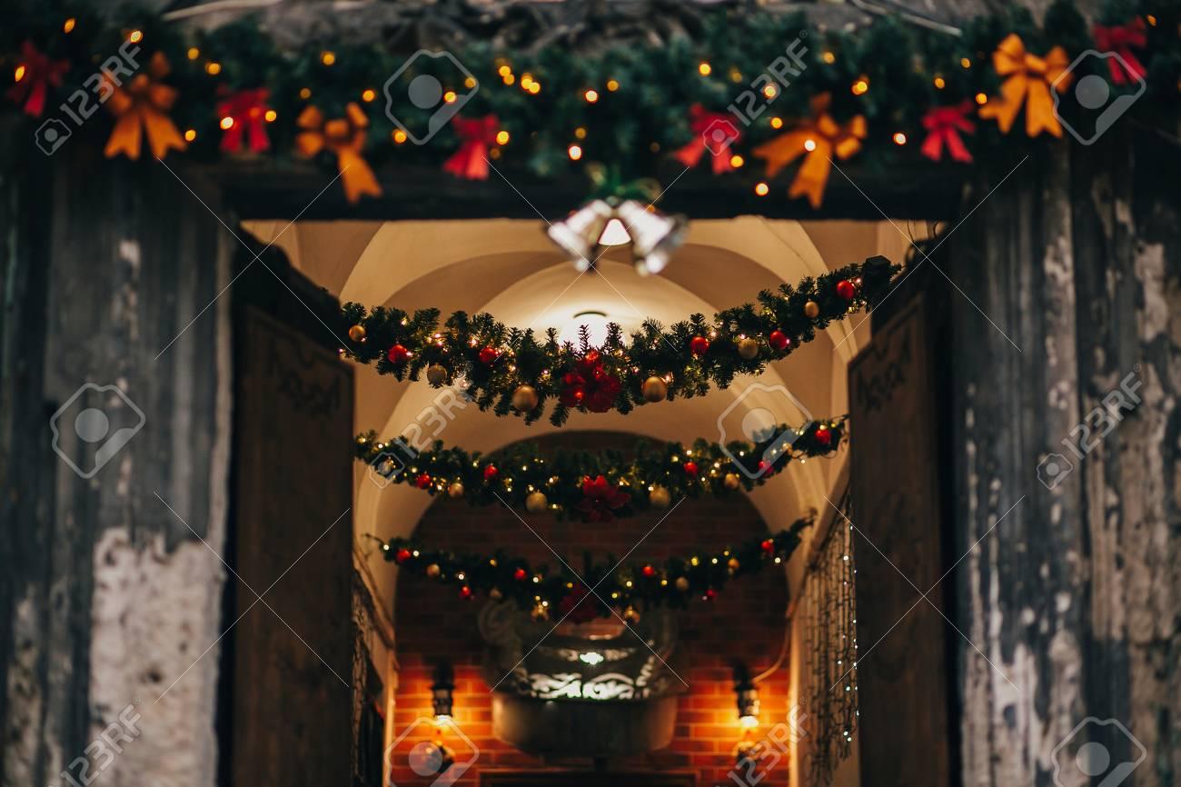Stylish Christmas Decorations Jingle Bells Garland Lights