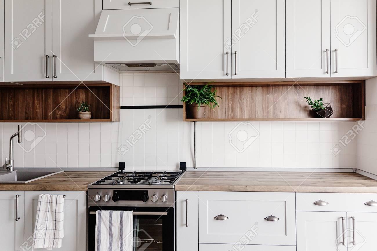 Stylish Kitchen Interior Design Luxury Modern Kitchen Furniture Stock Photo Picture And Royalty Free Image Image 114851647